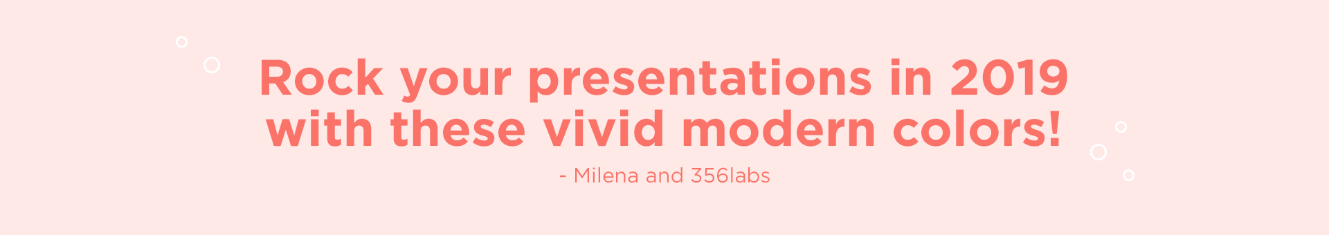 image with text for living coral. Rock your presentations in 2019 with these vivid modern colors
