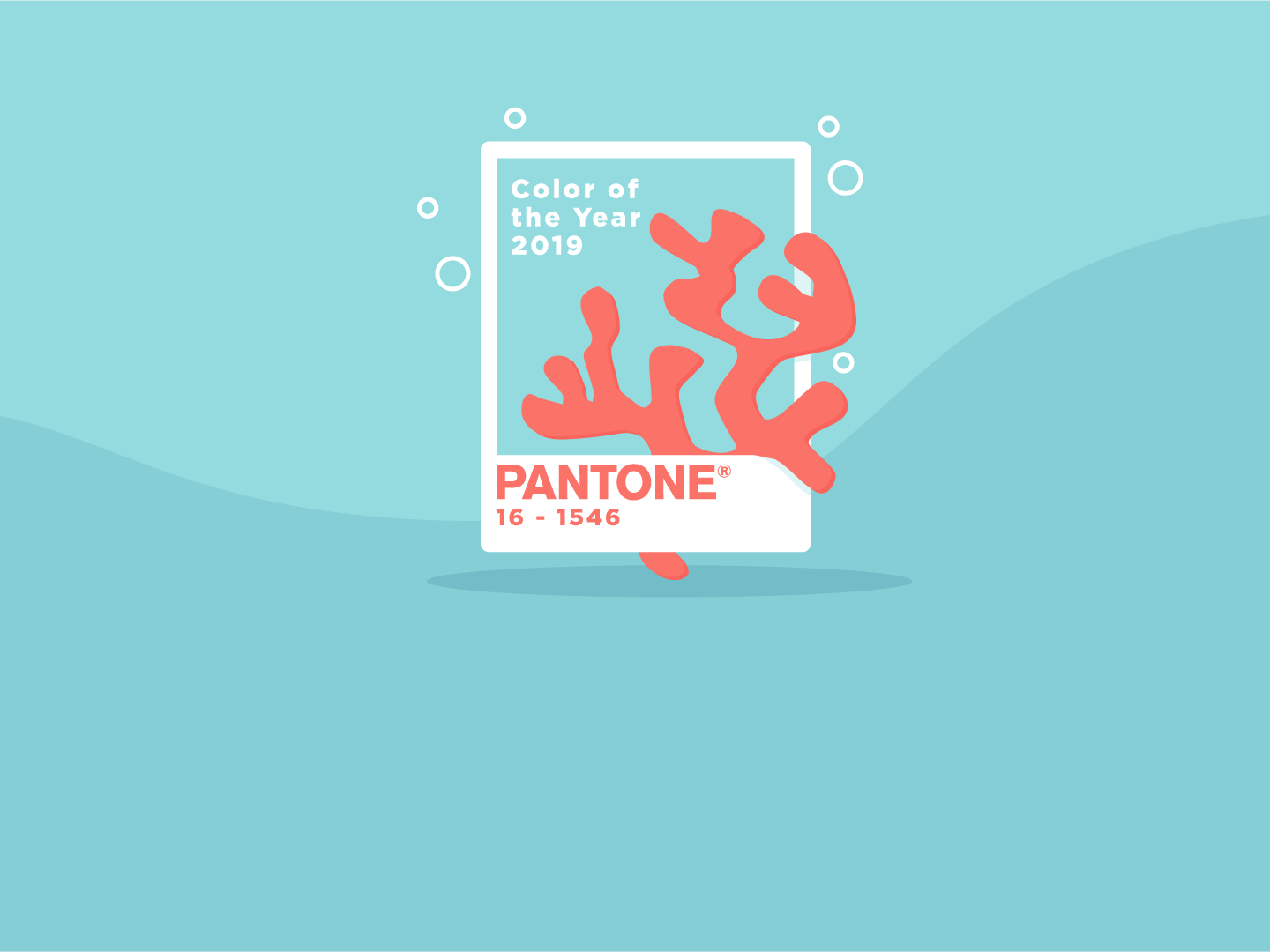 Pantone color of the year header image. Living Coral