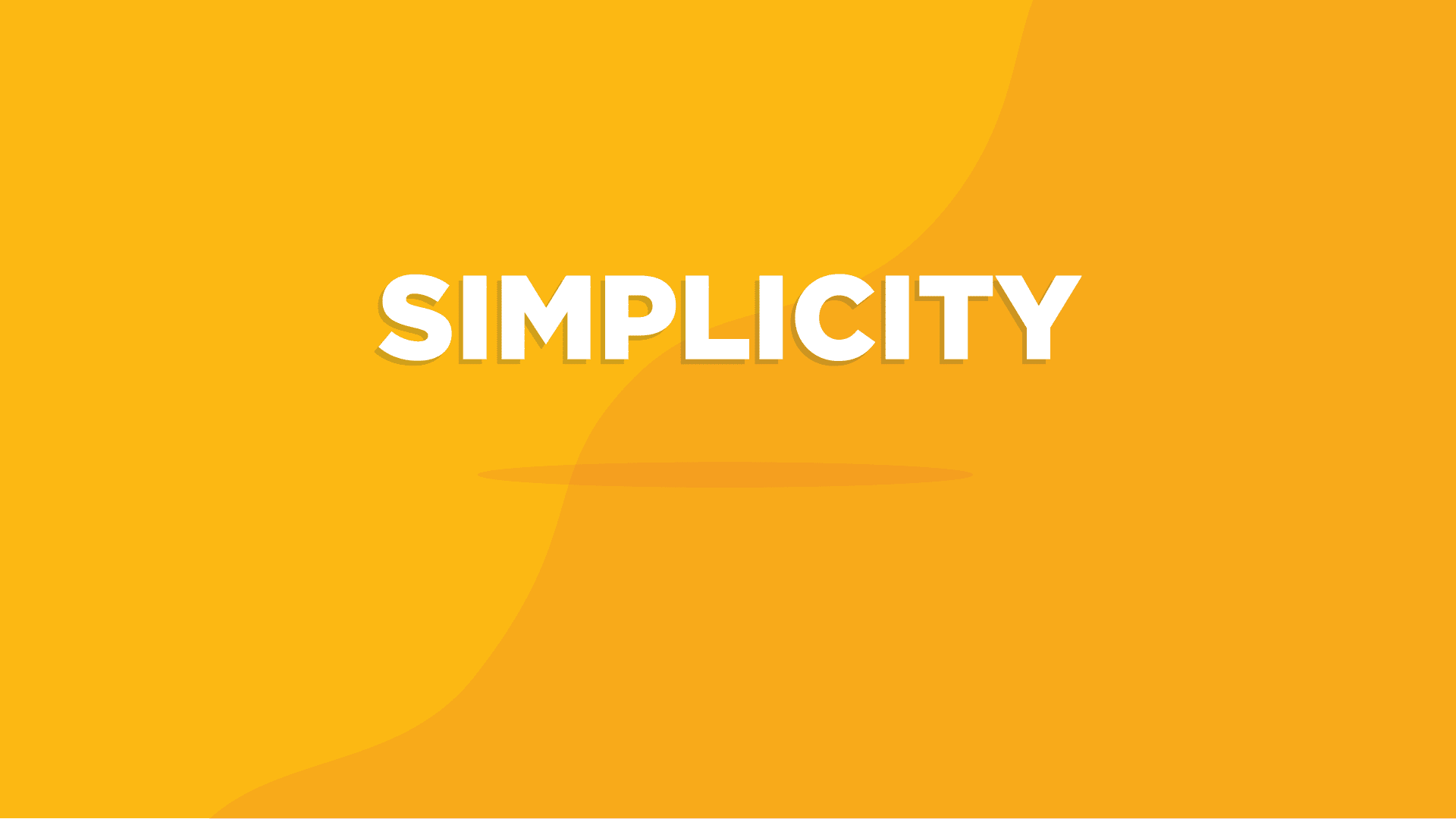 Picture displaying the word Simplicity