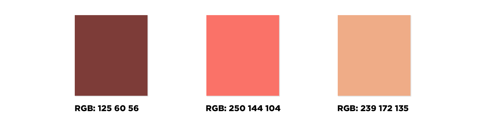 Sympatico_color palette with colors inspired by coral living color
