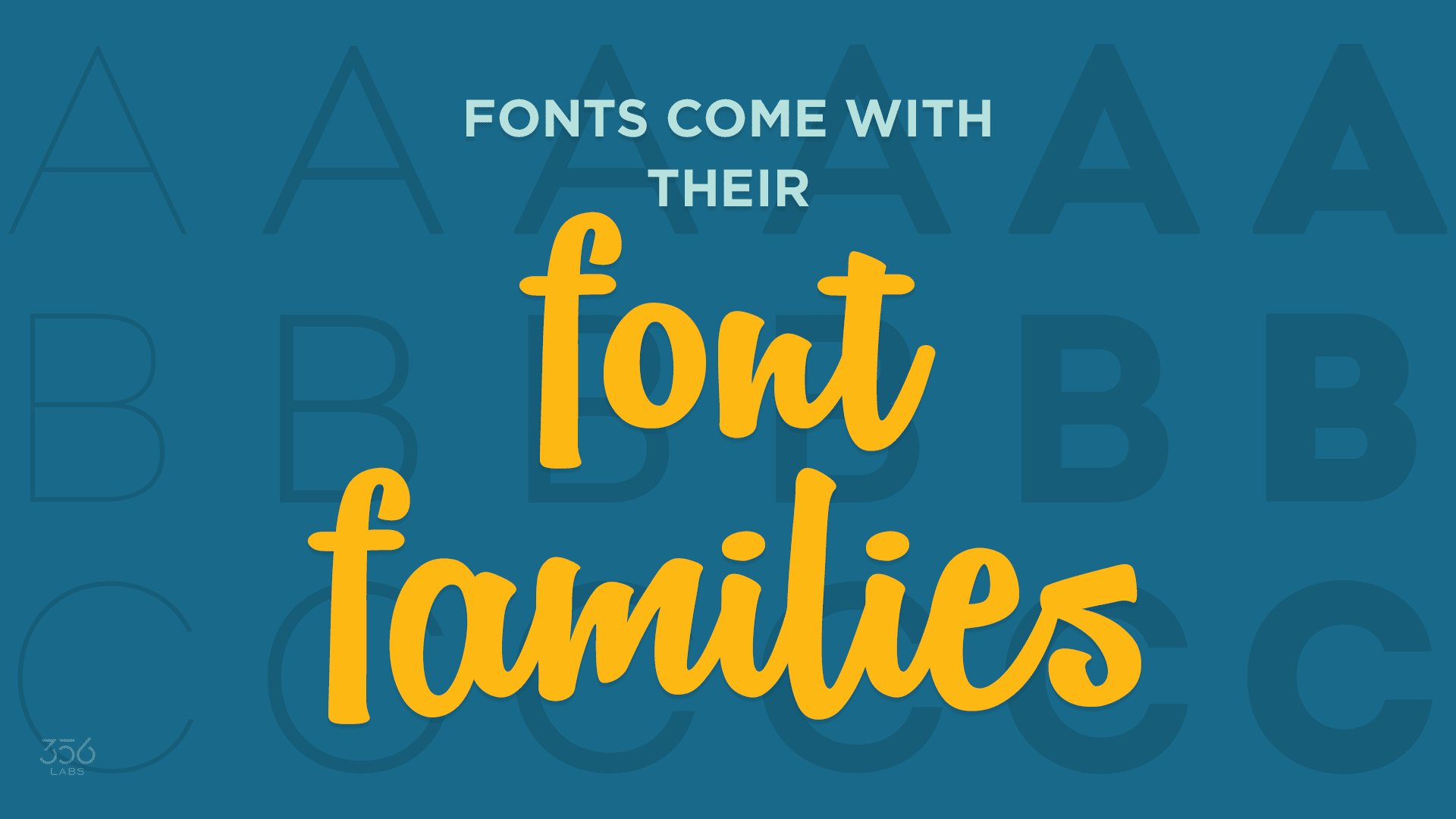 Image for Font families