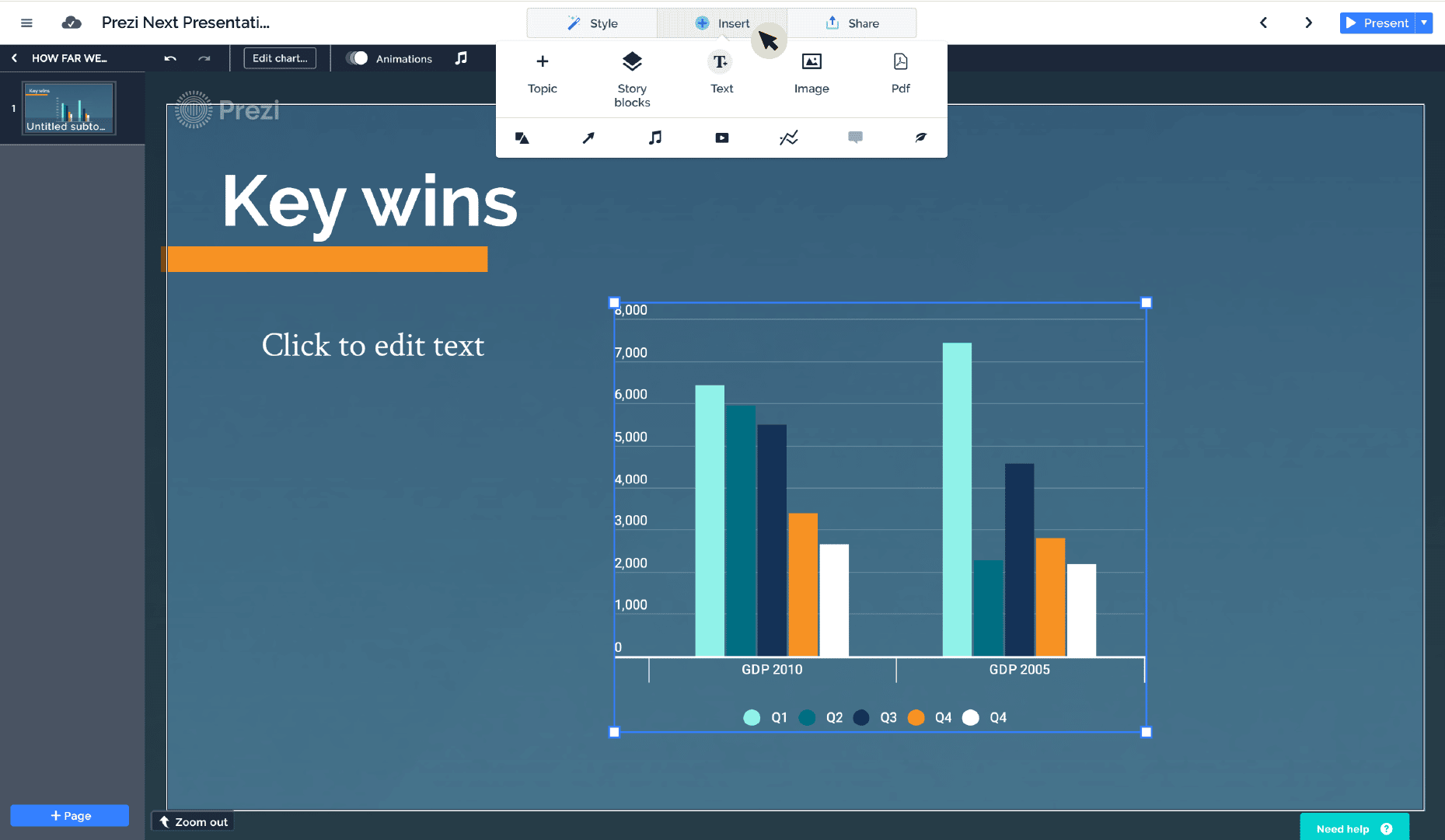 Prezi Next Analytics