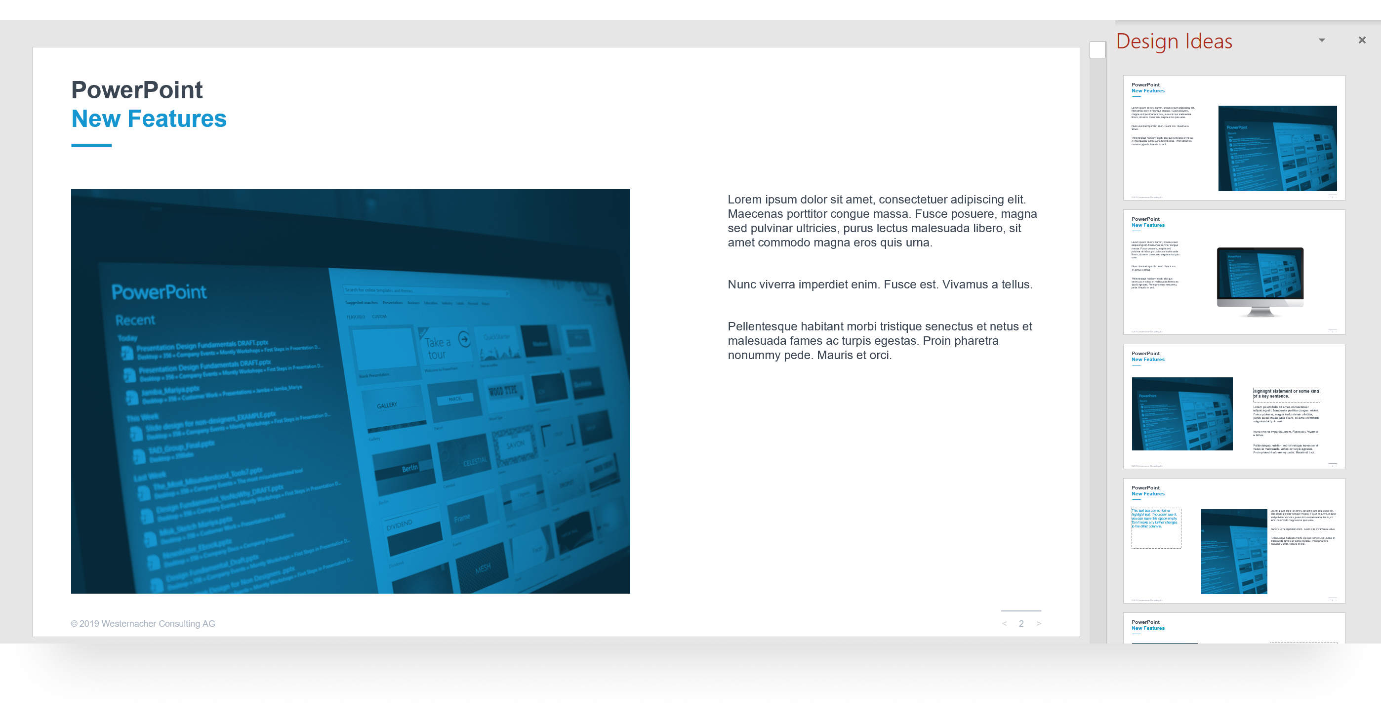 PowerPoint Designer Company-Branded Templates
