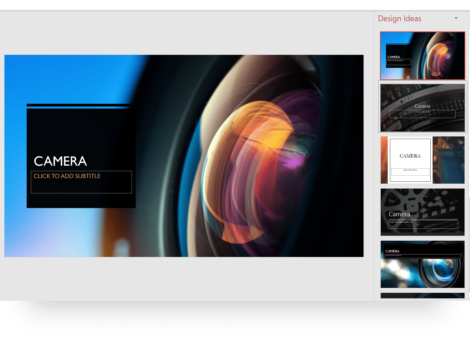 PowerPoint AI Designer Image Suggestions
