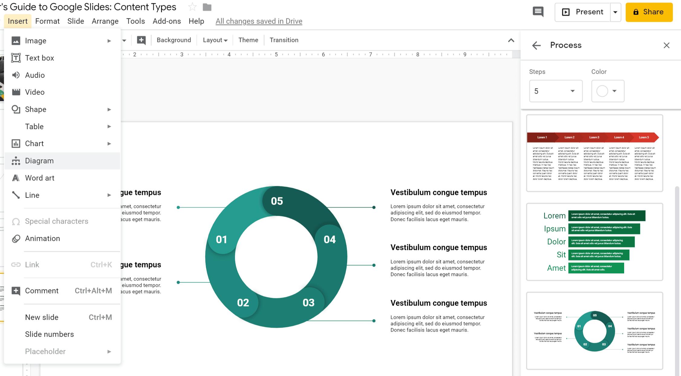 Google Slides Data Visualization Diagrams