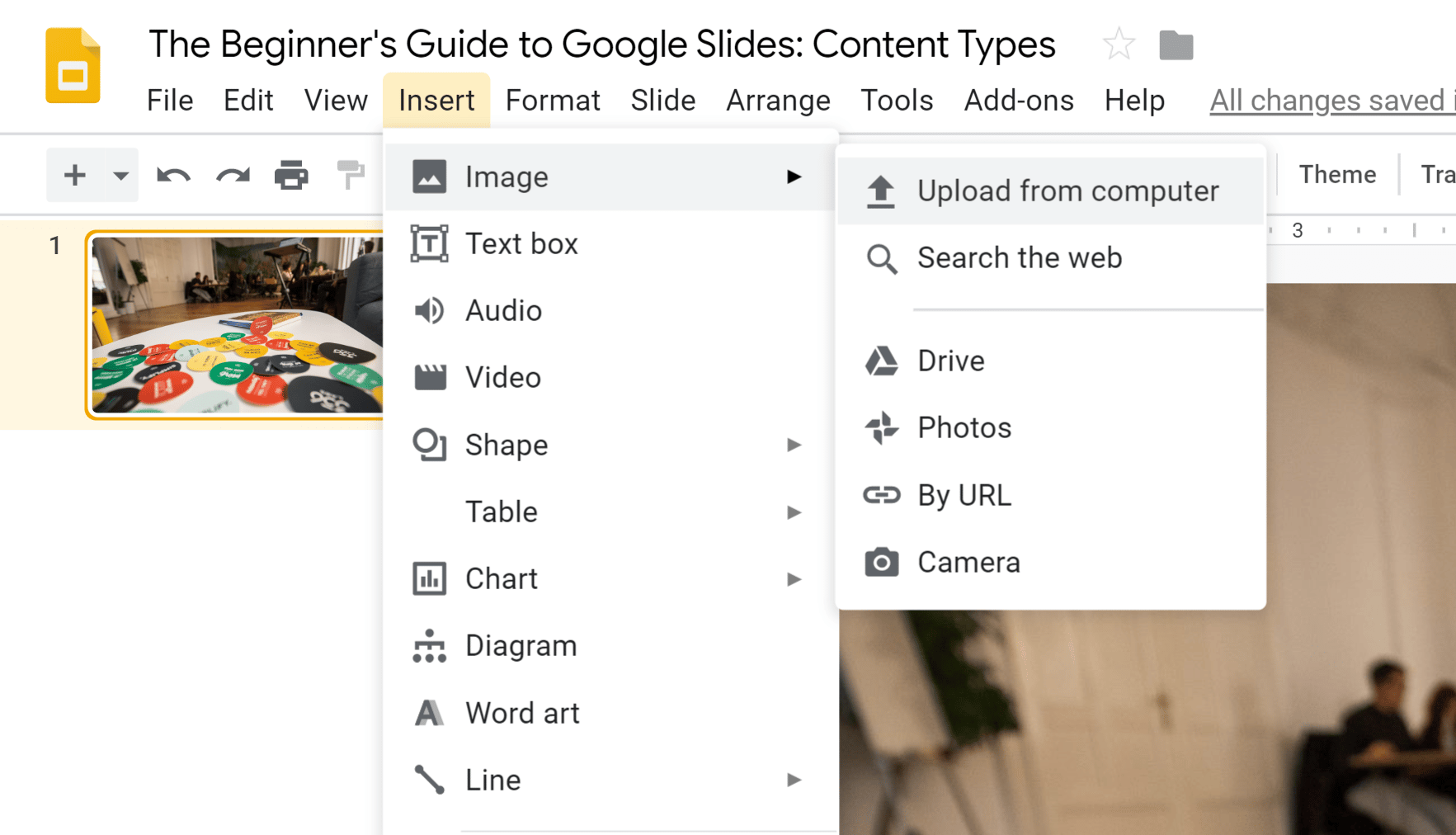Google Slides Content Types - Images