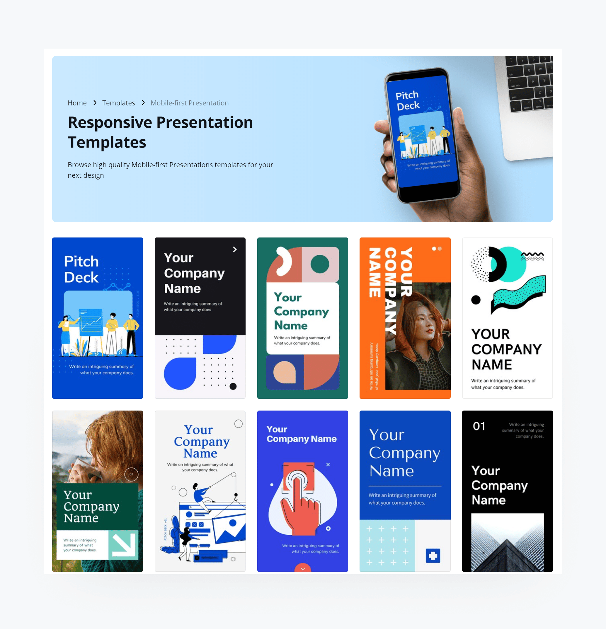 Mobile-First Presentation Templates