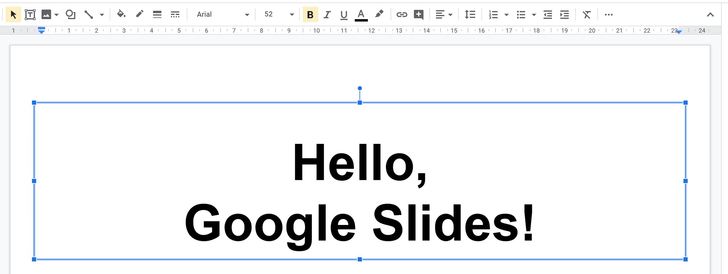 Google Slides New Slide Text