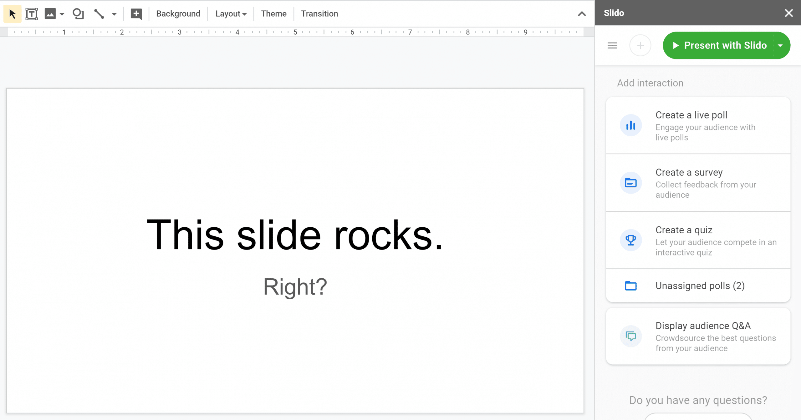 Slido for Google Slides