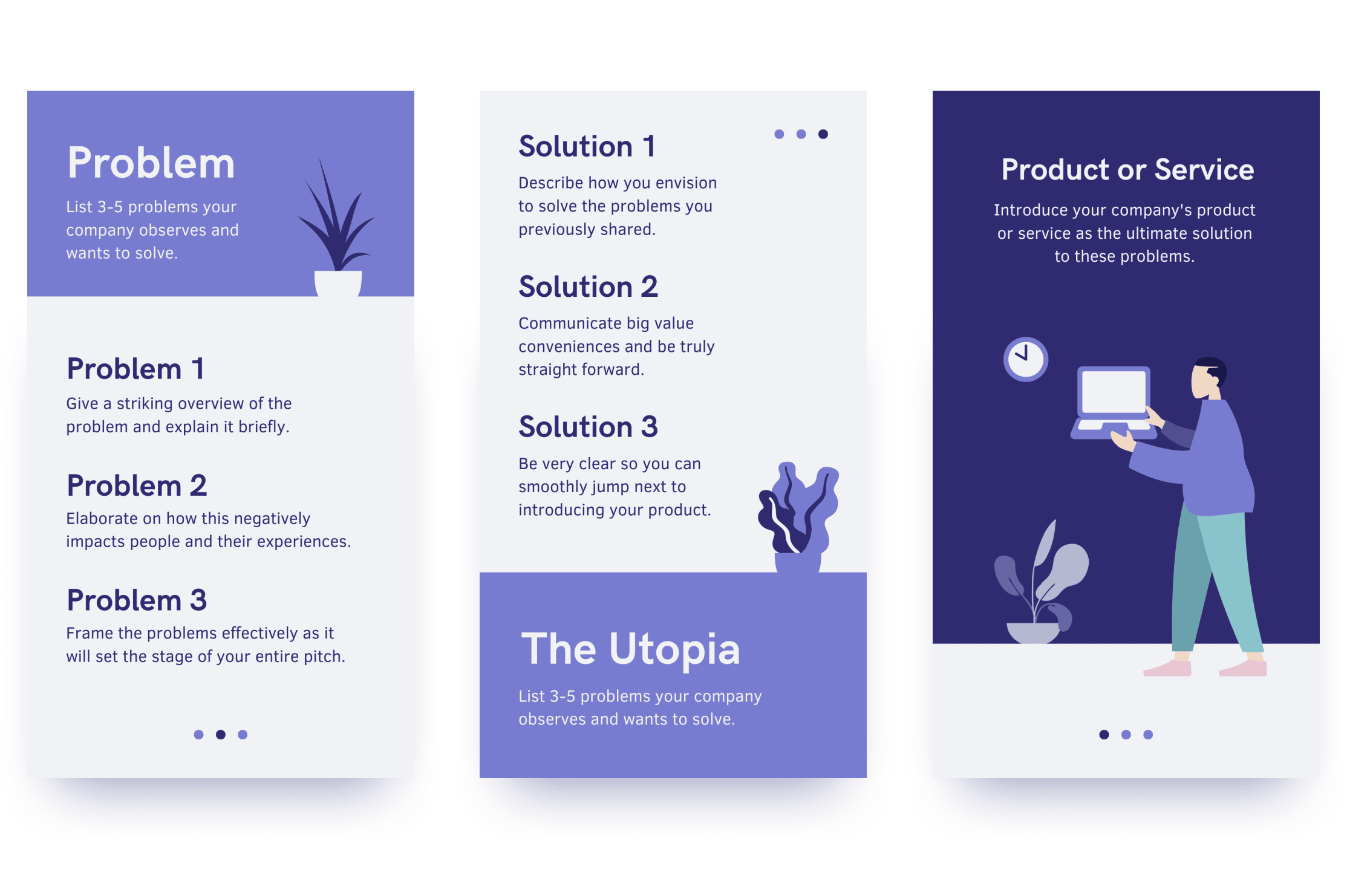 Mobile first presentation slide layouts