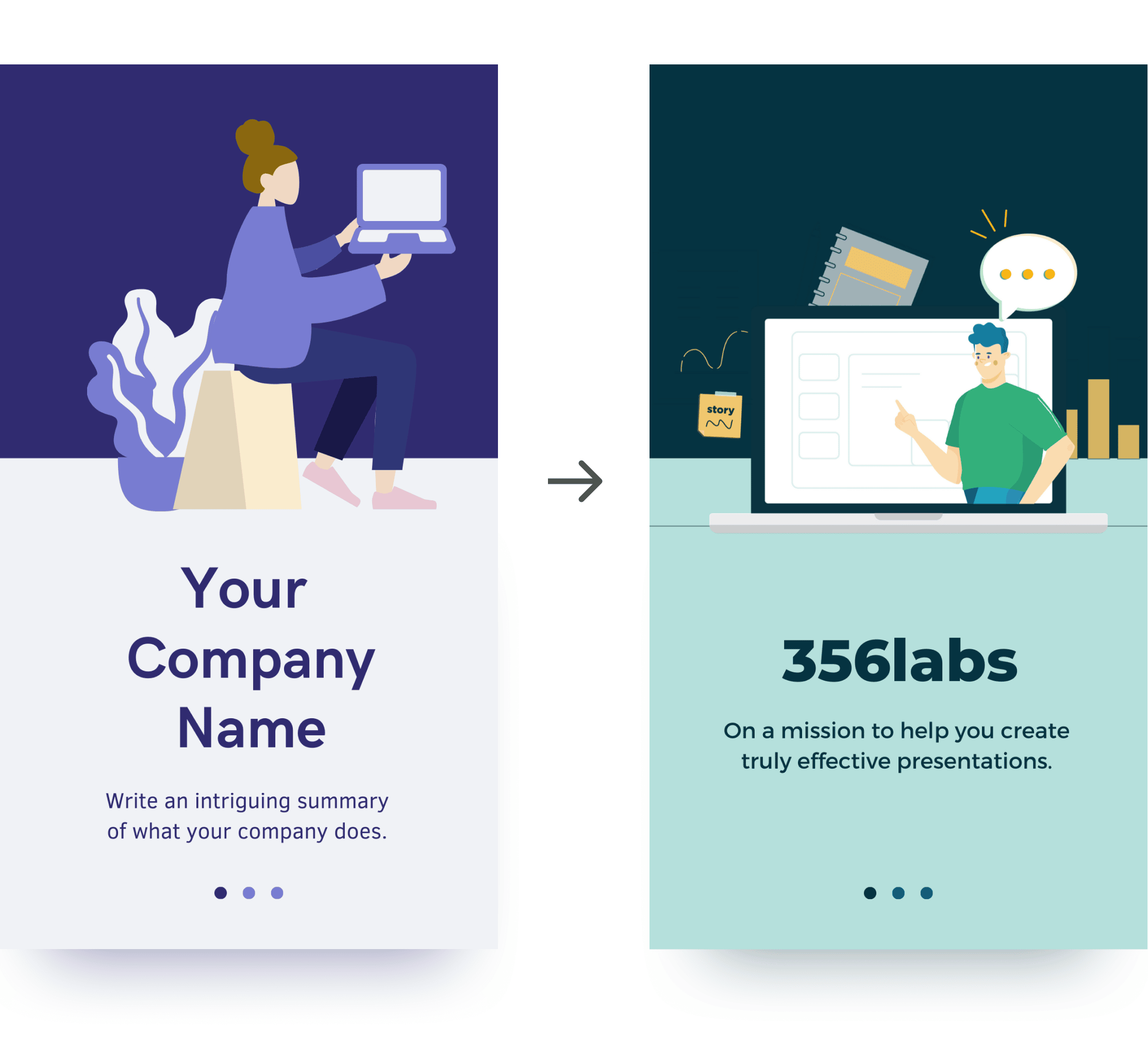 Mobile first presentation templates Canva