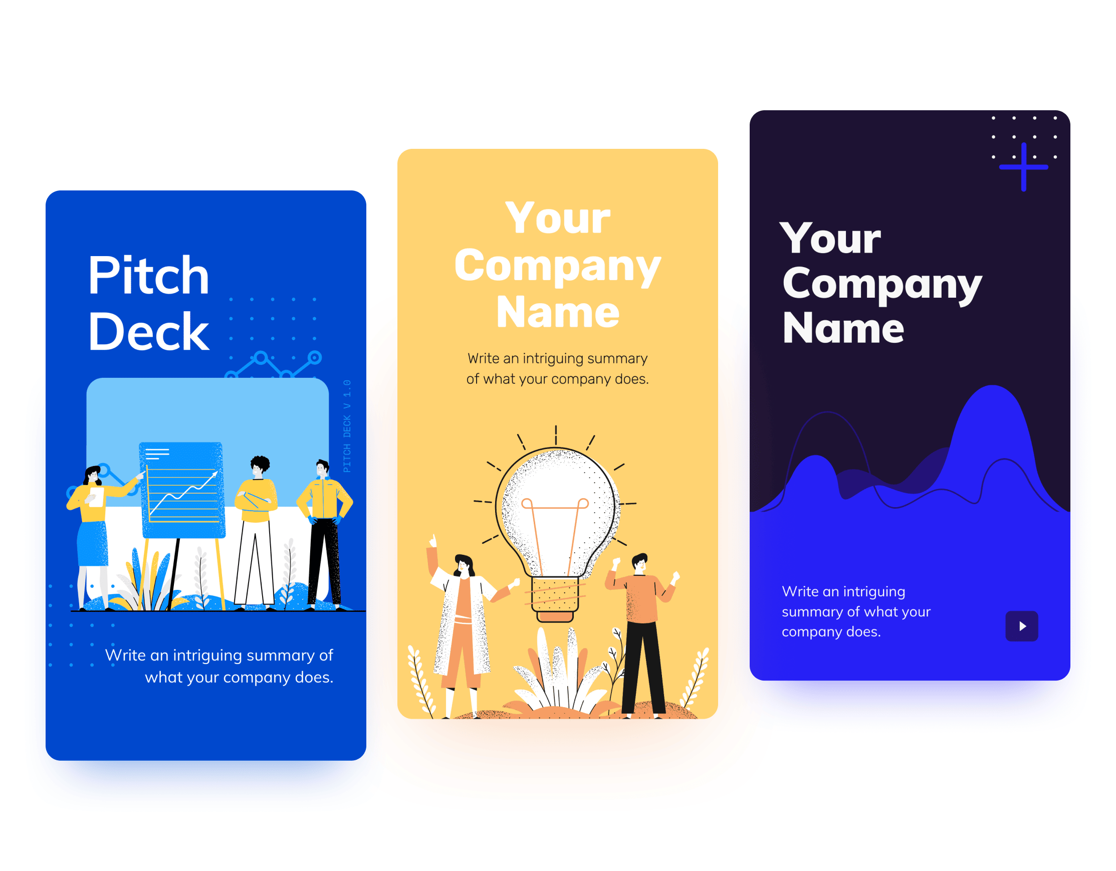 Presentation Mobile-First Template Designs