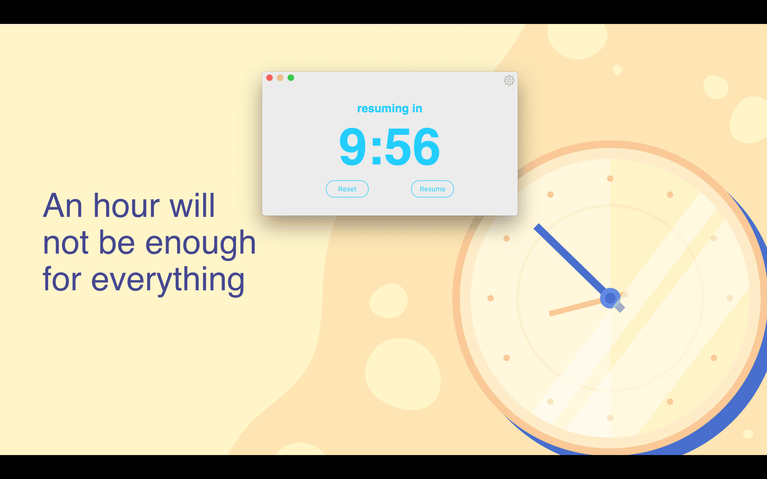 Countdown timer on Mac