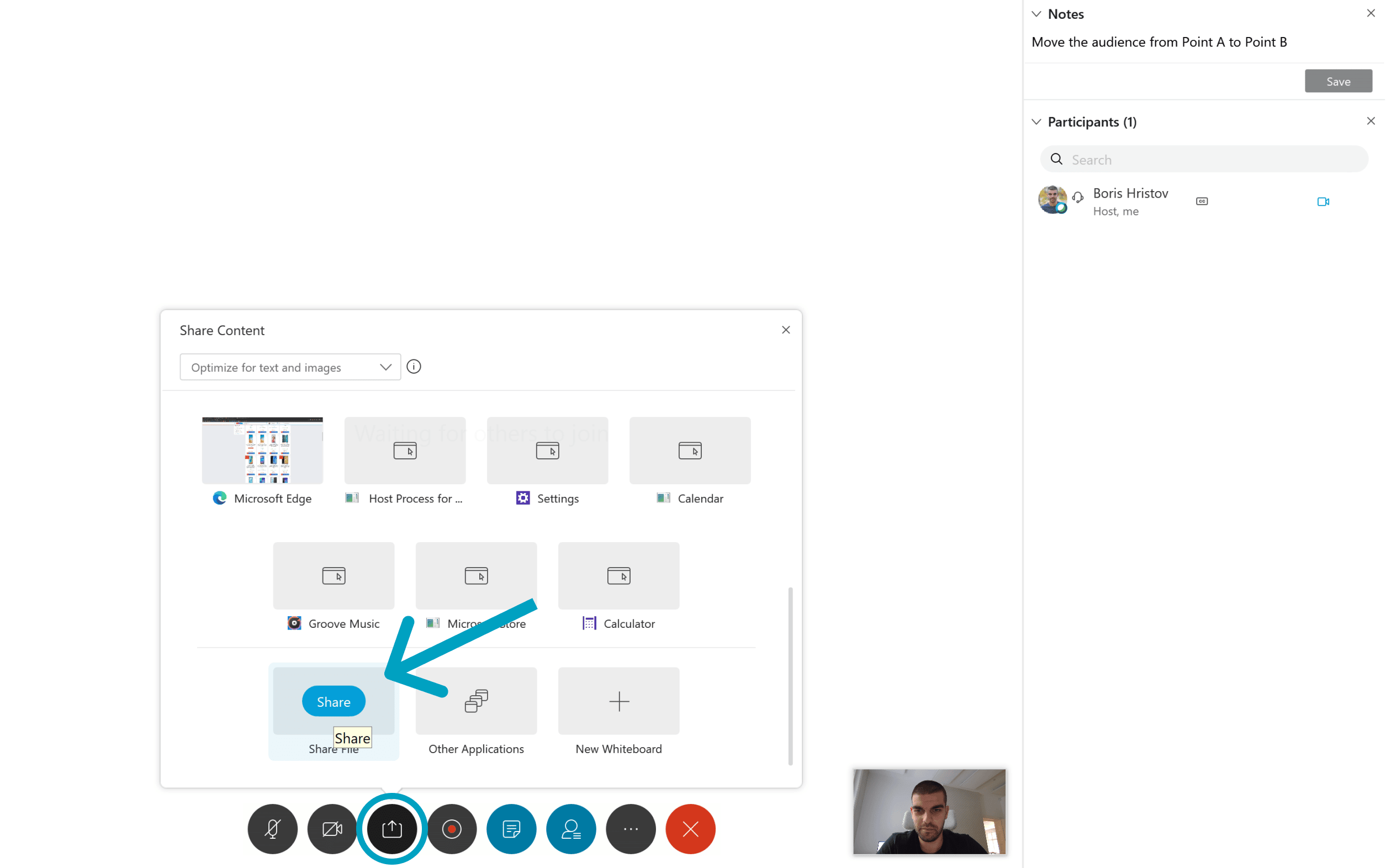 Cisco Webex share PowerPoint presentation